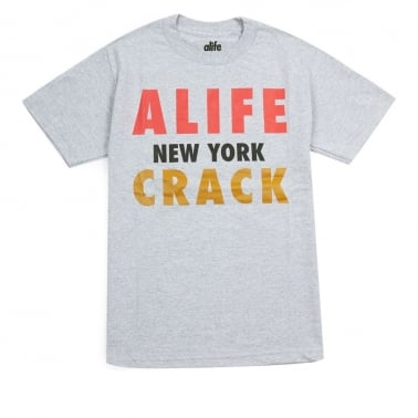 Crack T-shirt - Heather Grey