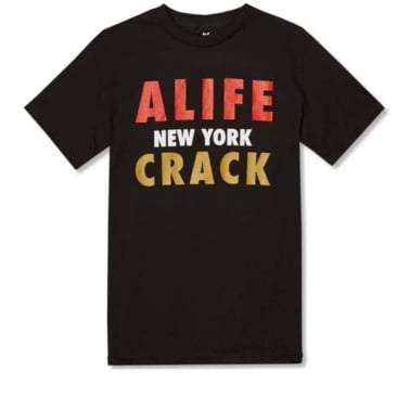 Crack T-shirt - Jet Black