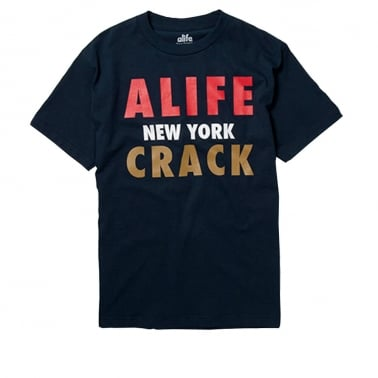 Crack T-shirt - Peacoat