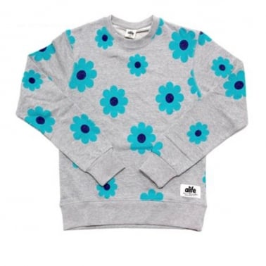 Daisy Crewneck Sweatshirt - Mirage Grey