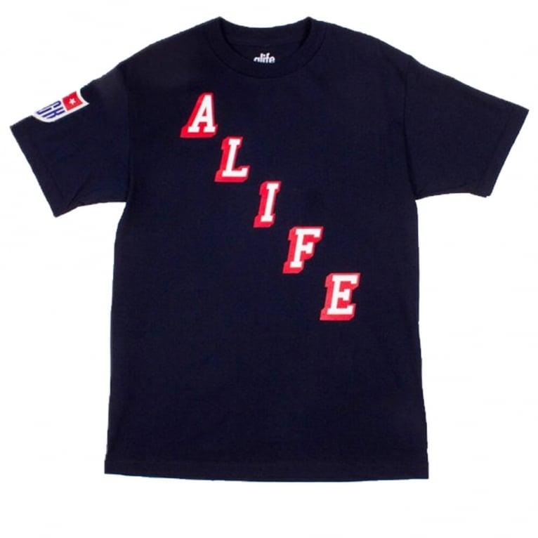 Alife Hometeam T-shirt - Peacoat