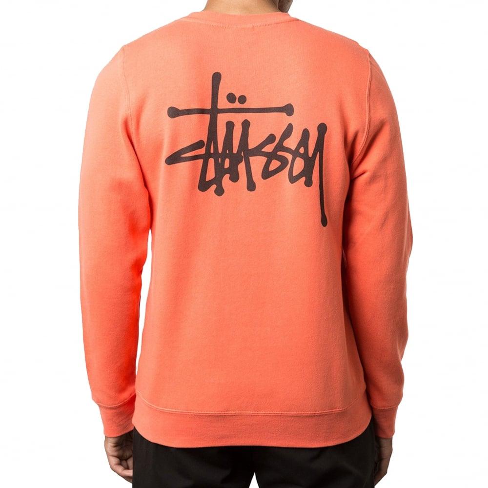 stussy orange sweatshirt