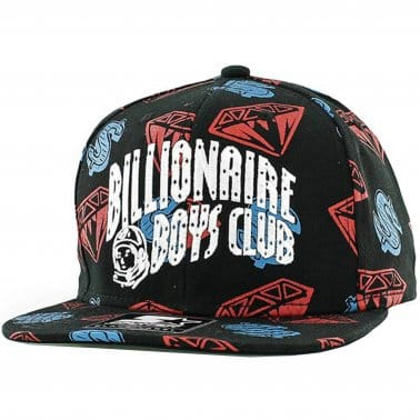 Diamond & Dollar Snapback - Black