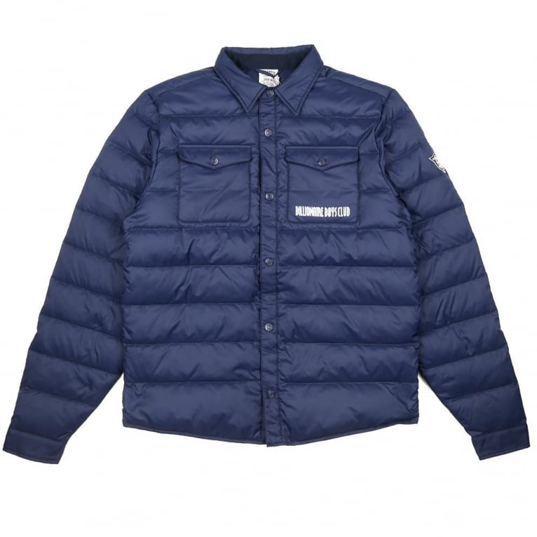 Billionaire Boys Club Down Quilted Overshirt - Navy