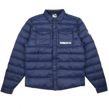 Down Quilted Overshirt - Navy