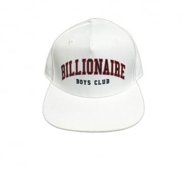 Ivy League Snapback Cap - White