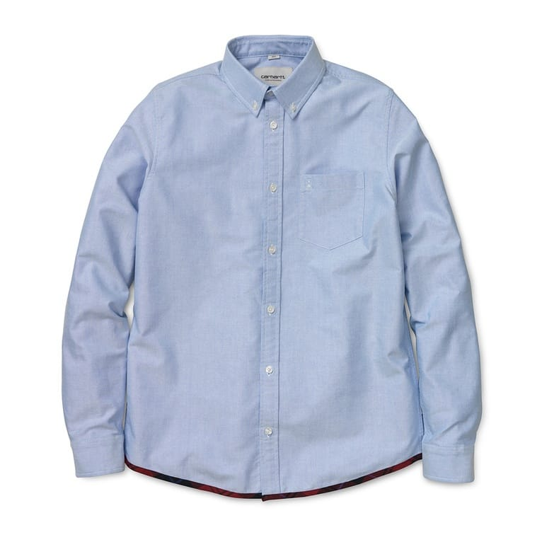 Carhartt WIP Buster Long Sleeve Shirt - Sky