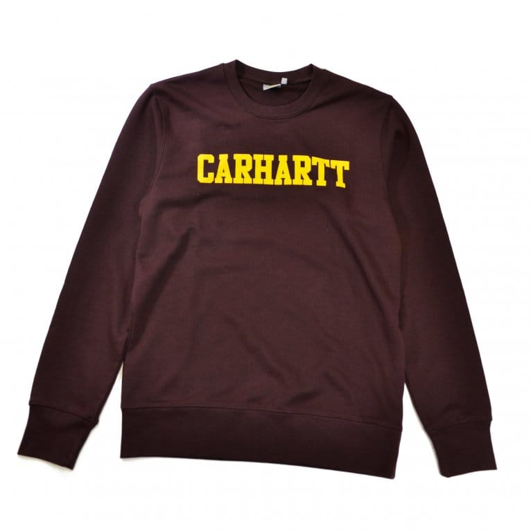 Carhartt WIP College Sweat - Damson/Yellow