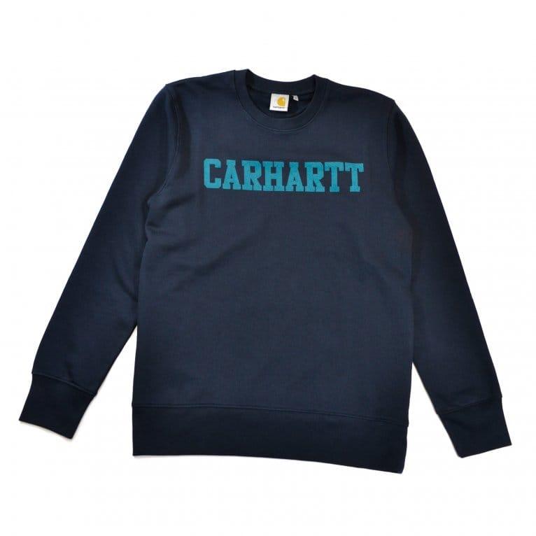 Carhartt WIP College Sweat - Navy/Severn