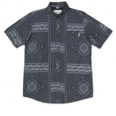 Trenton Assyut Short Sleeve Shirt - Black/White