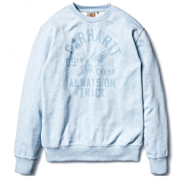 Carhartt WIP 89km Champ Crewneck Sweatshirt - Light Blue