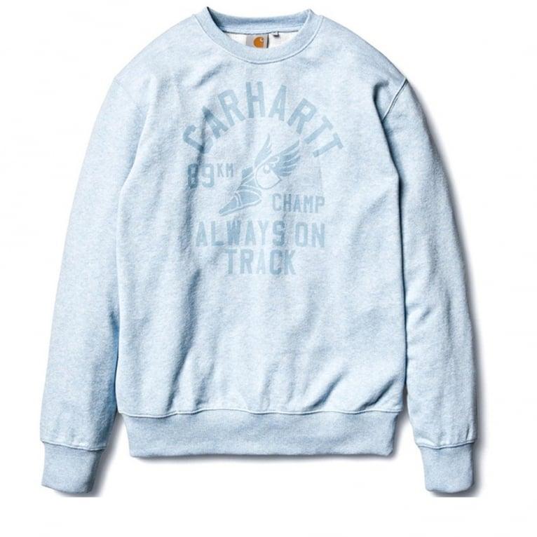 Carhartt WIP 89km Champ Crewneck Sweatshirt - Light Blue
