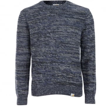 Accent Knitted Sweater - Blue