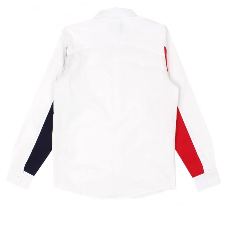 Carhartt WIP Alpha Long Sleeve Shirt - White/Blue/Fire