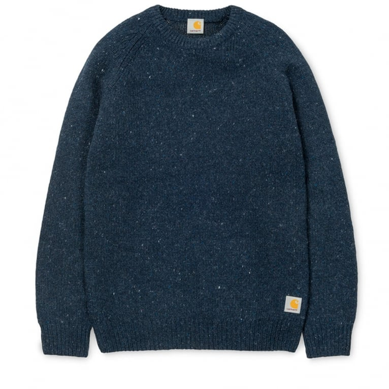 Carhartt WIP Anglistic Sweater - Navy