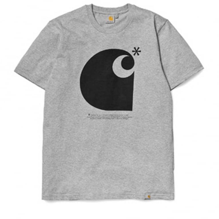 Carhartt WIP Asterix T-shirt - Grey/Black