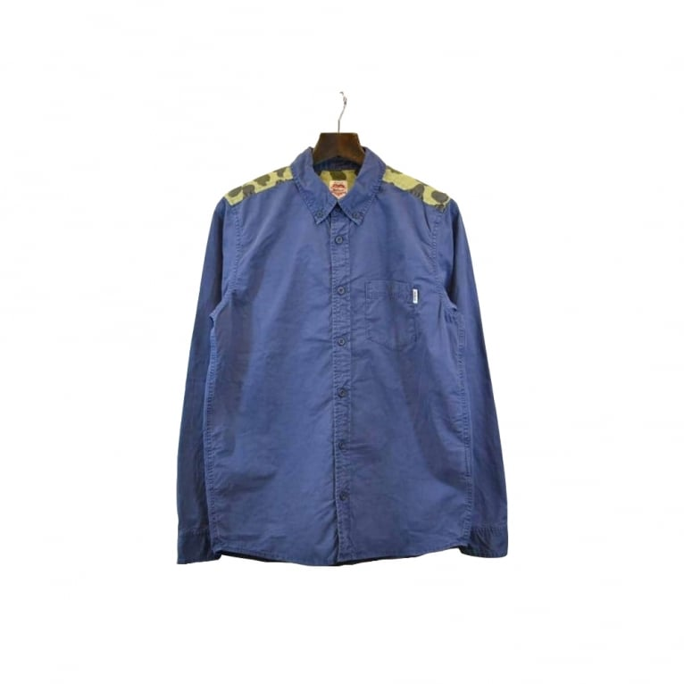 Carhartt WIP Baily Camouflage Shoulder Shirt - Heritage Blue