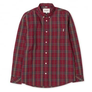 Baldwin Shirt - Cranberry