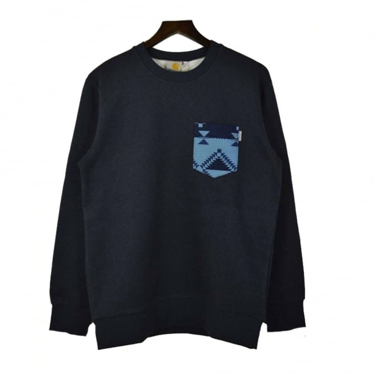 Carhartt WIP Baton Pocket Sweat - Navy Heather