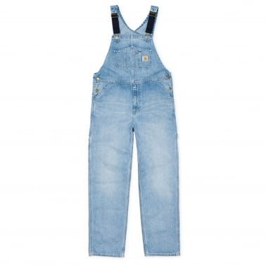 Bib Overall - Blue Bleached