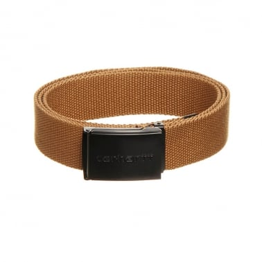 Black Clip Belt - Brown