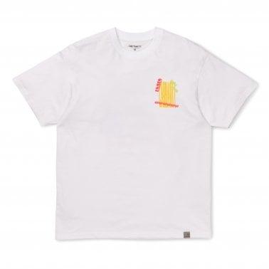 aac6b115e9 Burning Palm Beach T-Shirt - White New In. Carhartt WIP ...