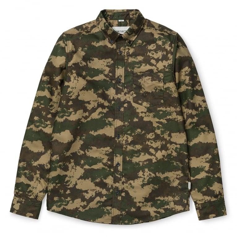 Carhartt WIP Camo Painted Shirt - Camo/Green