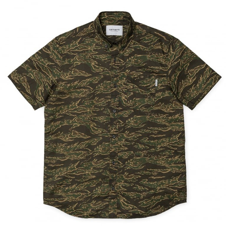 Carhartt WIP Camo Tiger Shirt - Laurel