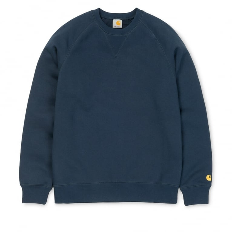 Carhartt WIP Chase Sweater - Blue Penny