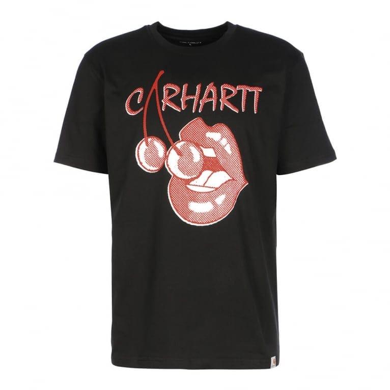 Carhartt WIP Cherry Lips T-shirt - Black