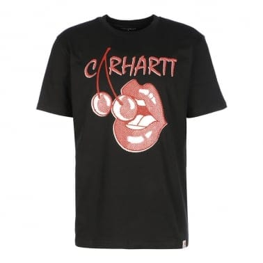 Cherry Lips T-shirt - Black