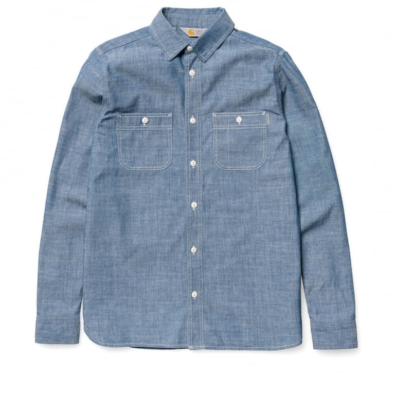 Carhartt WIP Clink Shirt - Blue Rinsed
