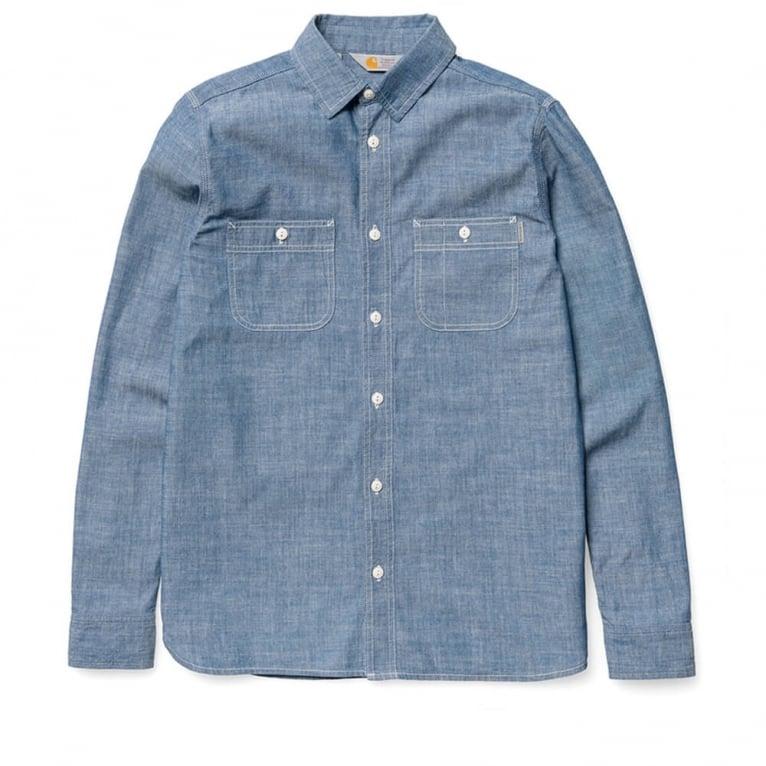 Carhartt WIP Clink Shirt - Blue Rinsed