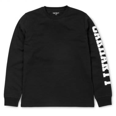 College Left Long Sleeve T-shirt - Black/White