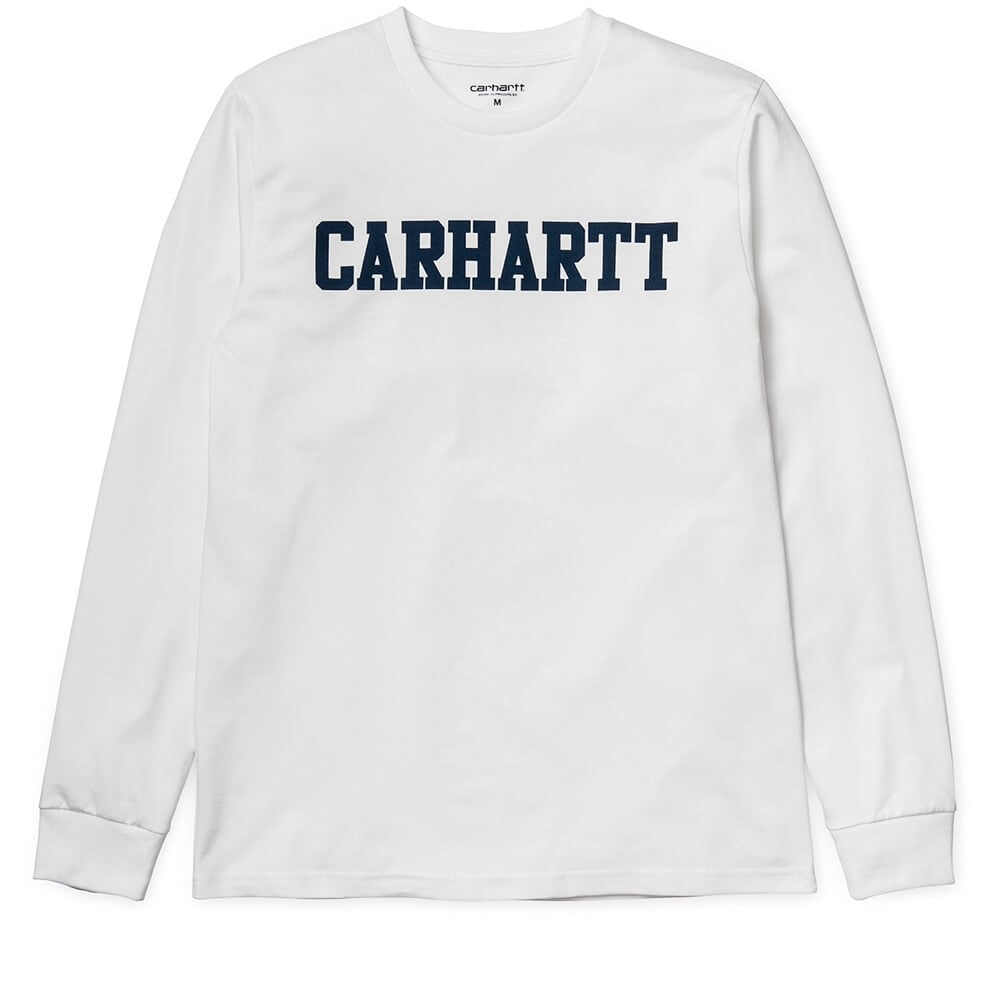 Buy carhartt wip college long sleeve t shirt carhartt for Carhartt burgundy t shirt