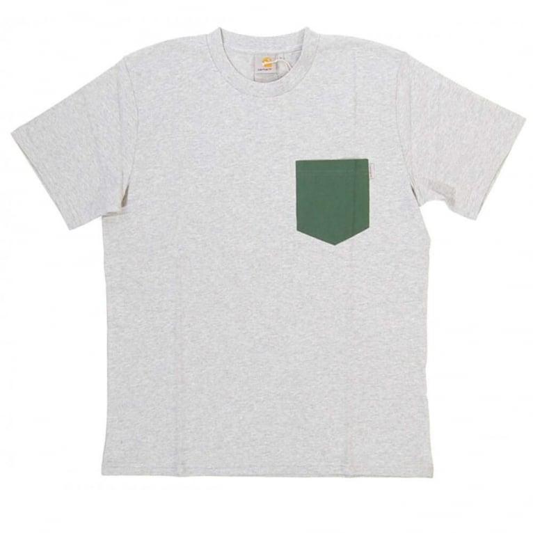 Carhartt WIP Contrast Pocket T-shirt - Grey/Fir