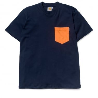 Contrast Pocket Tee - Colony/Russet