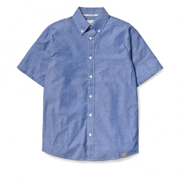 Carhartt WIP Cooke Short Sleeve Shirt - Blue