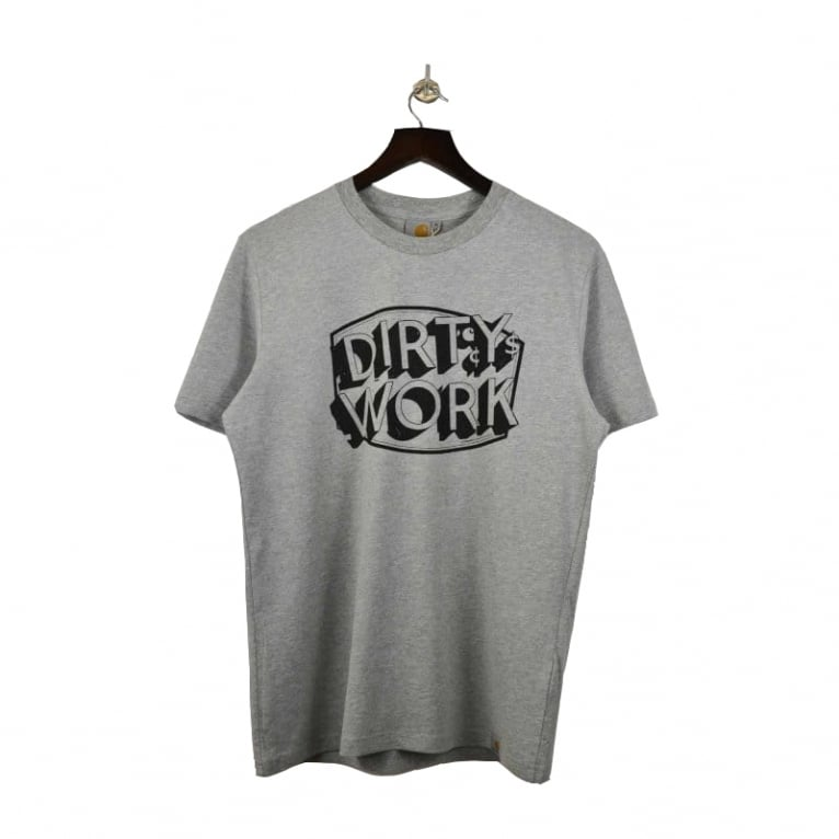 Carhartt WIP Dirty Work Tee - Grey Heather