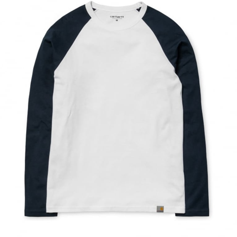 Carhartt WIP Dodgers Long Sleeve T-shirt - Grey Heather/Black