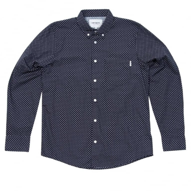 Carhartt WIP Dots Shirt - Navy/White