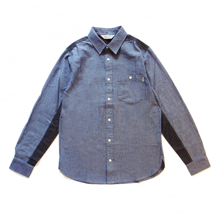 Carhartt WIP Geoffrey Shirt - Blue/Graphite