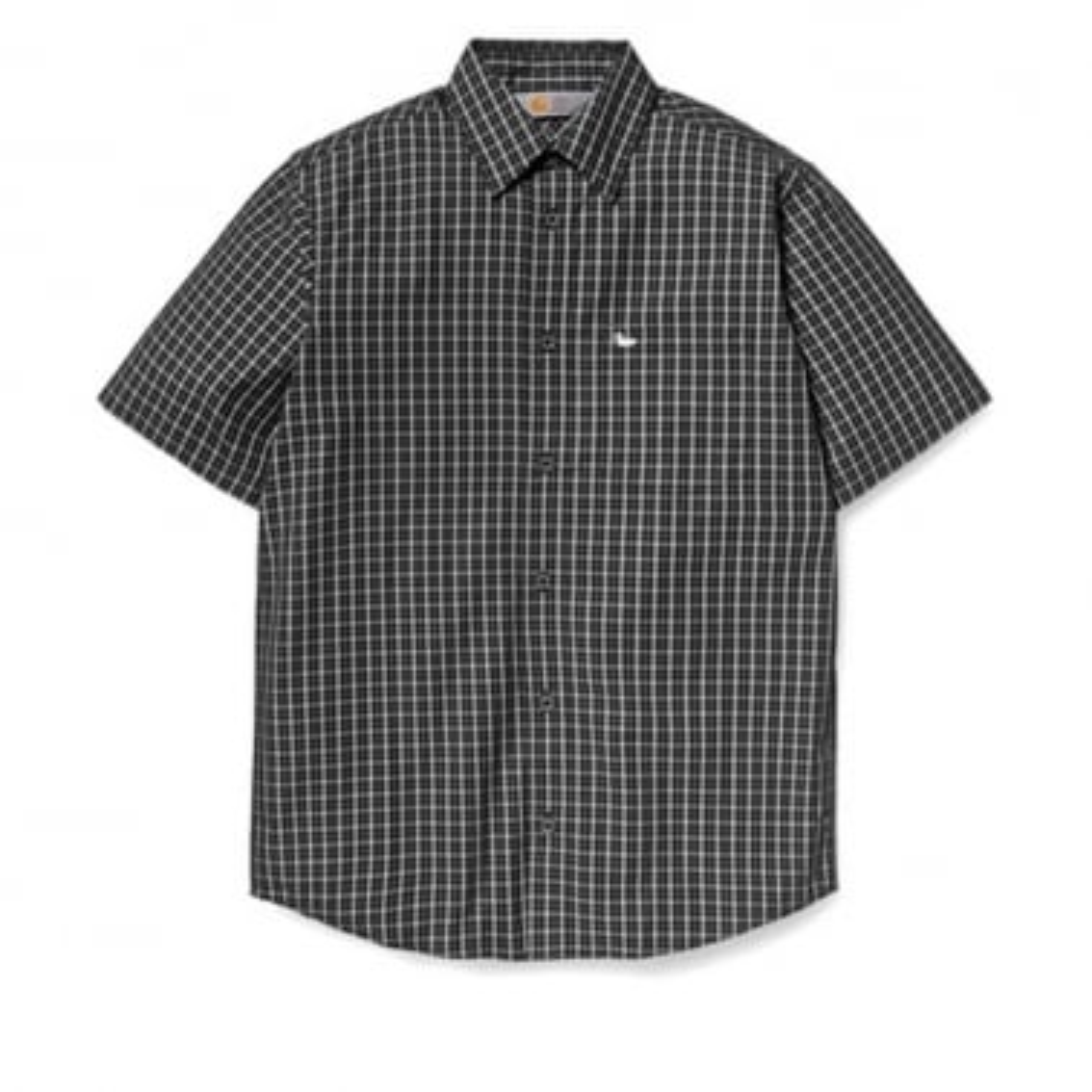 Glen Short Sleeve Shirt - Asphalt