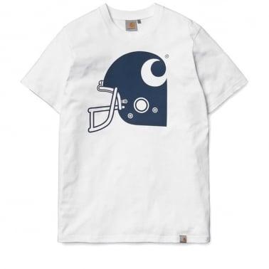 Helmet Tee - White/Navy