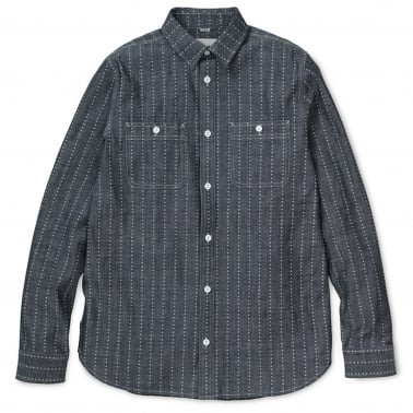 Hobbs Heart Stripe Long Sleeve Shirt - Indigo/White
