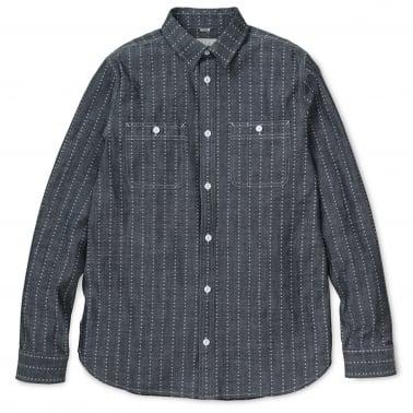 Hobbs Heart Stripe Long Sleeve Shirt - Indigo/White