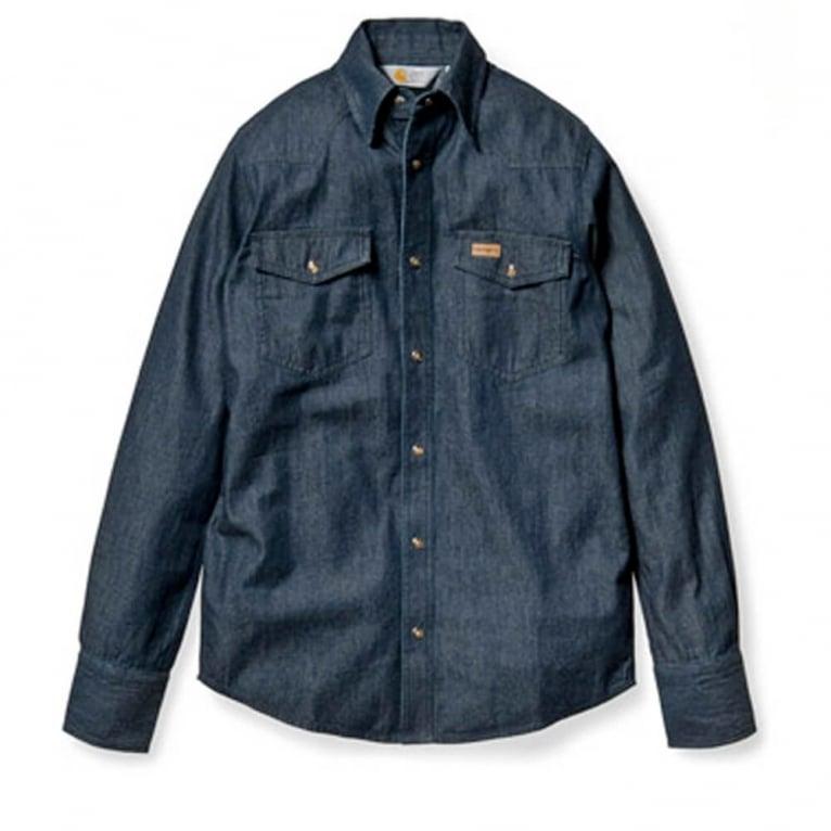 Carhartt WIP Howdy Shirt - Blue Rinsed