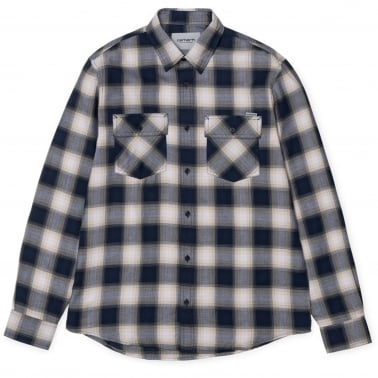 Huck Check Shirt - Navy