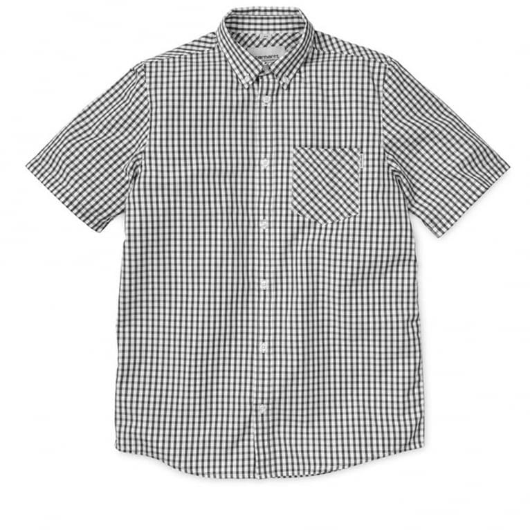 Carhartt WIP Kenneth Short Sleeve Shirt - Black/Checkerboard