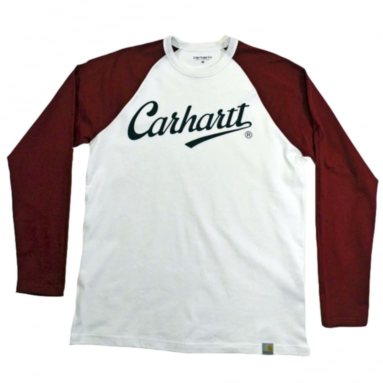 Carhartt WIP League Long Sleeve Tee - White/Alabama